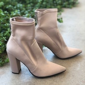 Dolce Vita Elana Tan Pointed Toe Heeled Booties